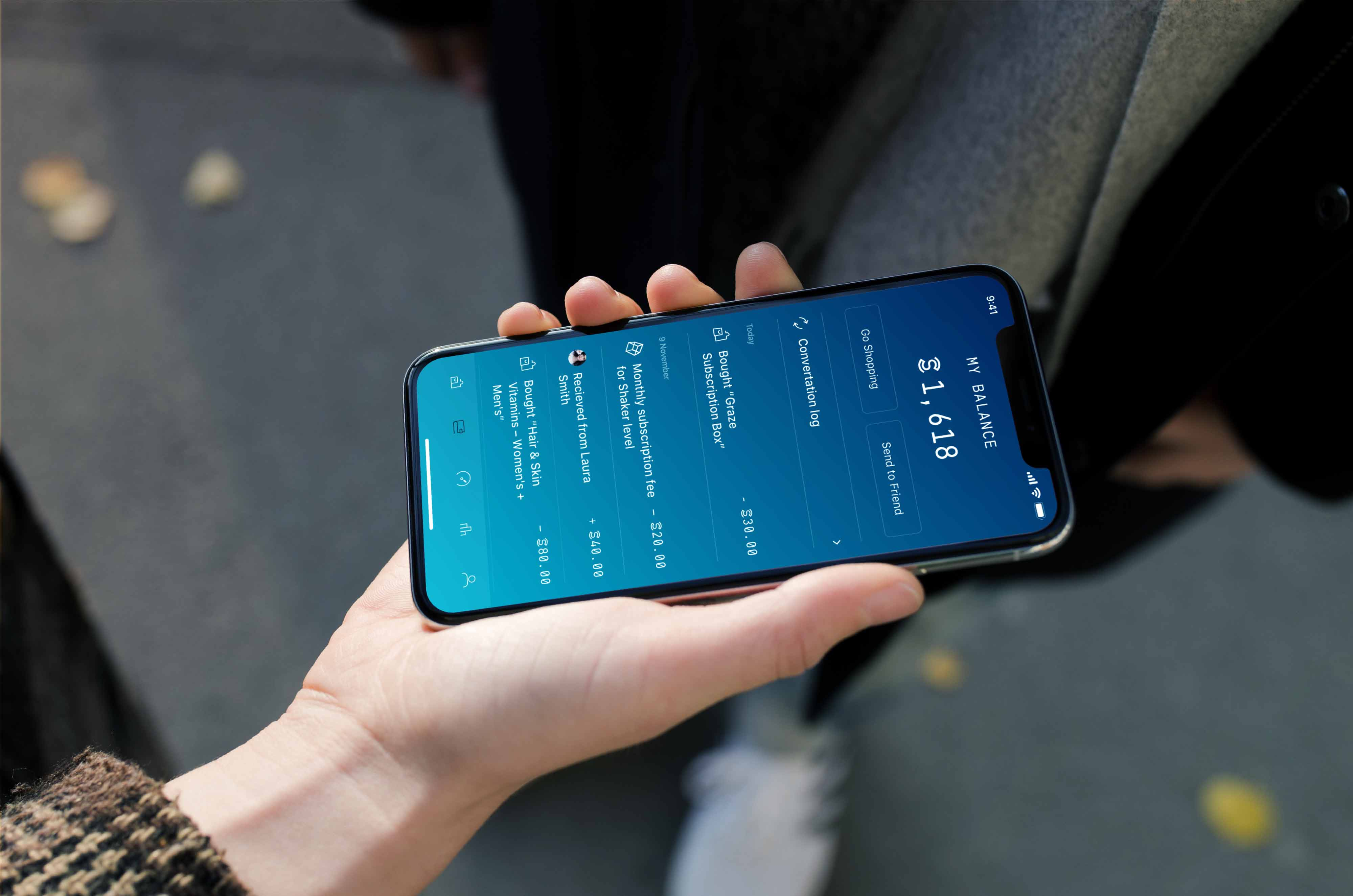 Sweatcoin app transaction screen