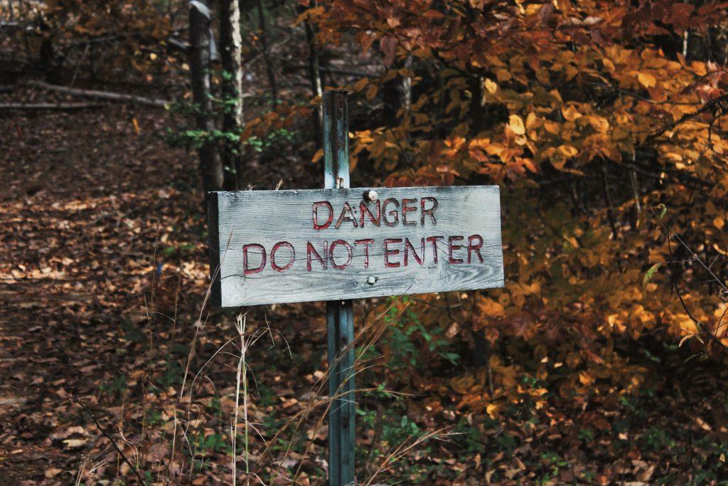 Dangerous Walks Keep Out
