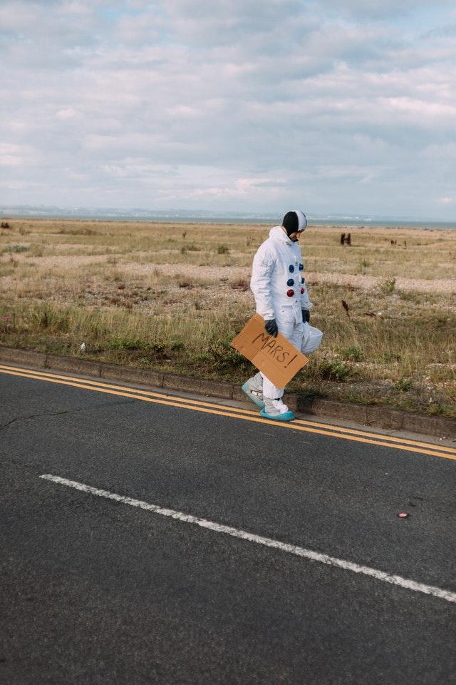 walking to mars