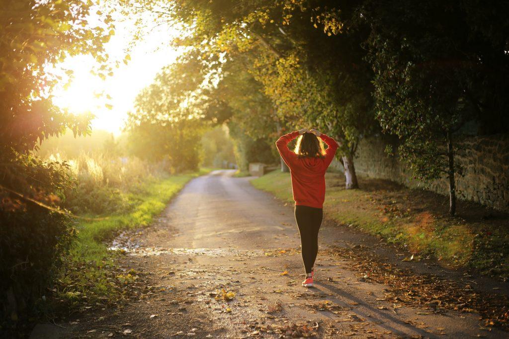 Brisk walking exercise